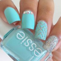 Light Blue And Silver Nail Designs | www.pixshark.com ...
