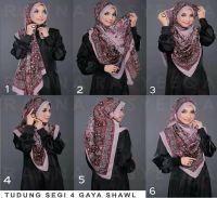 .a way to wrap a large shawl into hijab.... neat large ...