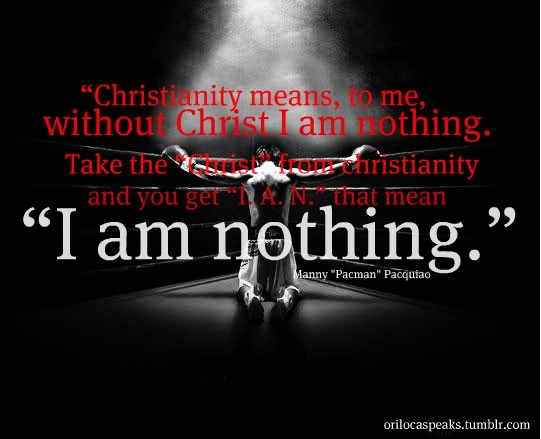 Manny Pacquiao Quotes Wallpaper Manny Quot Pacman Quot Pacquiao Quot Quot Christianity Means To Me