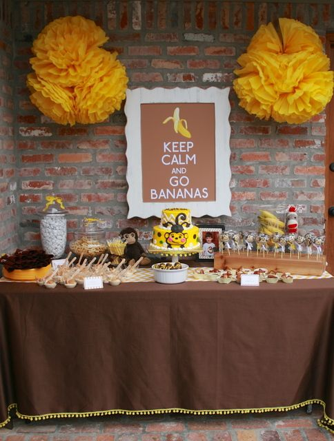 "Photo 9 of 24: monkeys / Birthday ""Mattox's 3rd Birthday Party"" | Catch My Party"