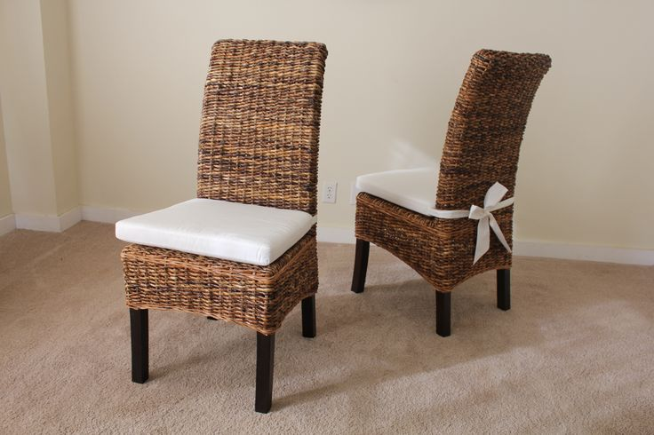 wicker chair cushions with ties bears in chairs banana leaf and oak dining table cushion tie. | furniture pinterest ...