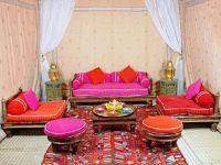 Moroccan Patio - pink and orange colors | Patio Ideas ...