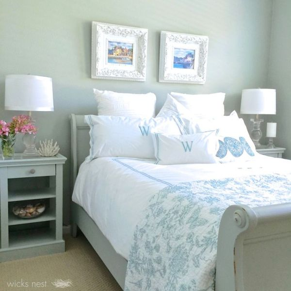 silver blue gray bedroom paint colors Restoration Hardware Silver Sage - gray/green/blue color
