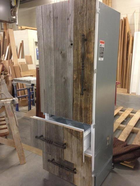 Antique barn board refrigerator panels  Miscellaneous
