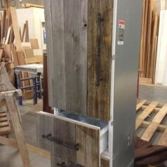 Kids Wooden Kitchen Inexpensive Backsplash Antique Barn Board Refrigerator Panels! | Miscellaneous ...