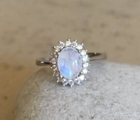 17 Best ideas about Moonstone Engagement Rings on ...