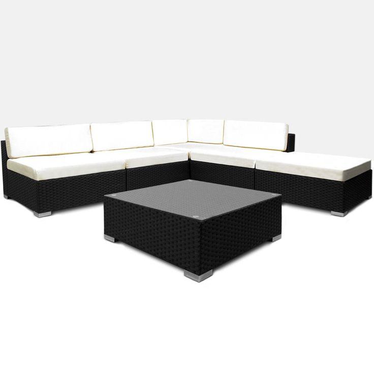 xinro polyrattan loungeset braun mix gartenmobel set bahamas, Hause und garten