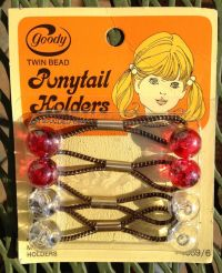 Vintage Goody Twin Bead Ponytail Holders New Old Stock ...