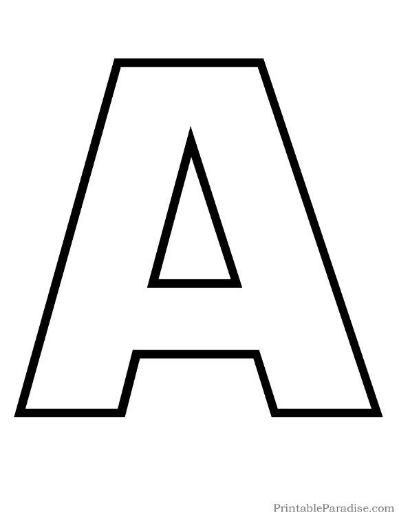 Printable Letter A Outline Print Bubble Letter A