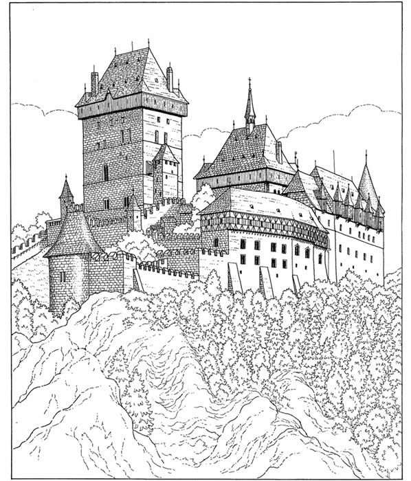 17 Best images about Castle Coloring Pages on Pinterest