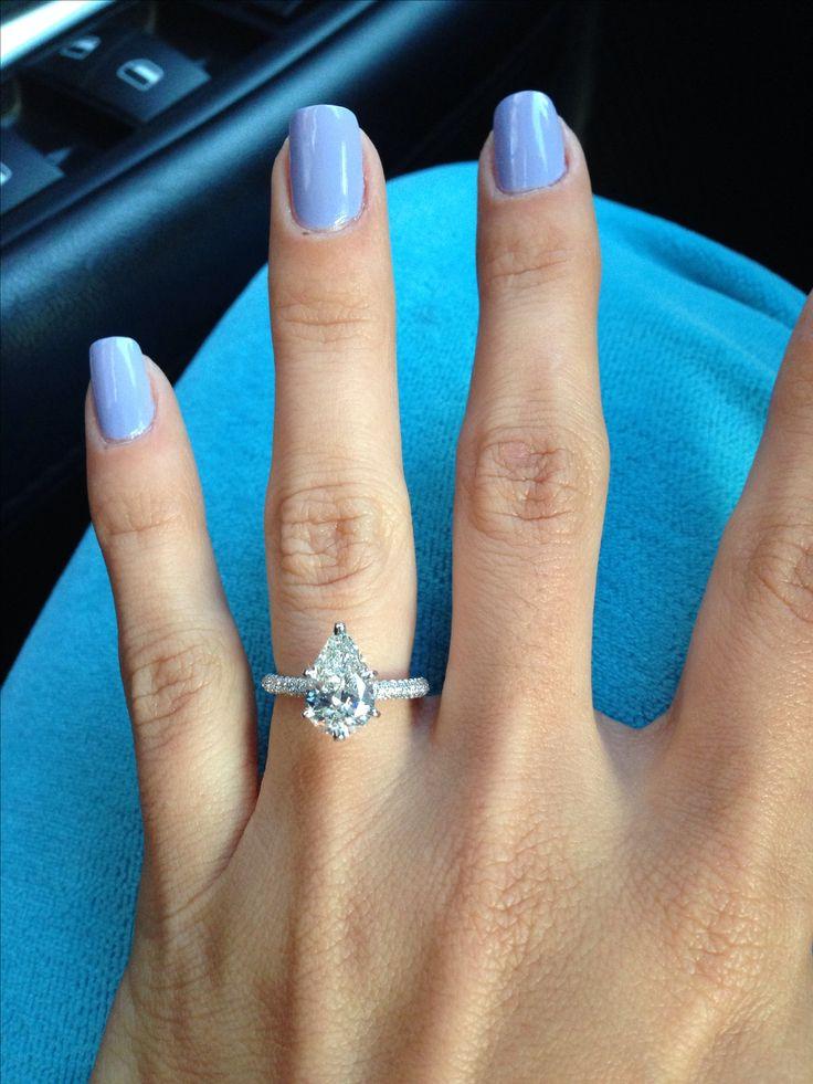 25 best ideas about Pear Diamond Rings on Pinterest