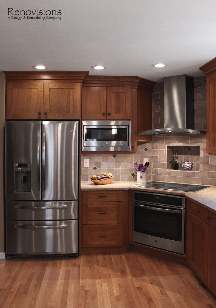 25 best ideas about Corner stove on Pinterest  Cherry hardwood flooring Stainless steel stove