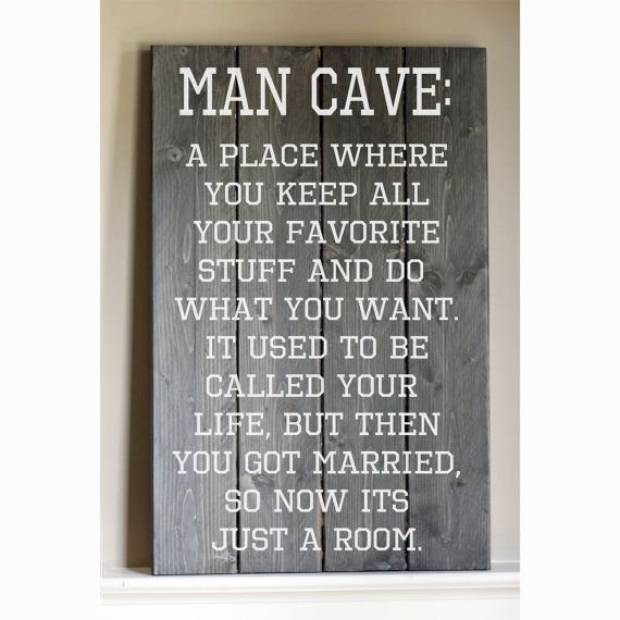 Rustic  Man Cave Wood Sign by HammerandLaceinc on Etsy