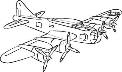 How To Draw World War 1 Planes Sketch Coloring Page