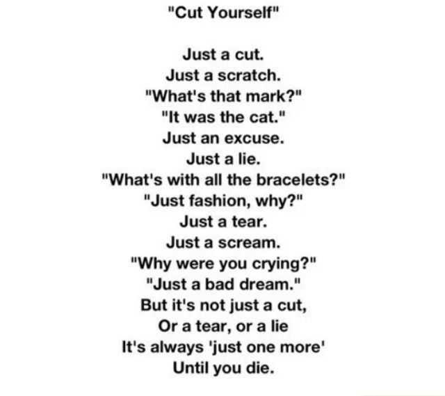 42 best images about self harm poems on Pinterest