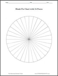 Blank Pie Chart with 24 Pieces: Print worksheet or use on ...