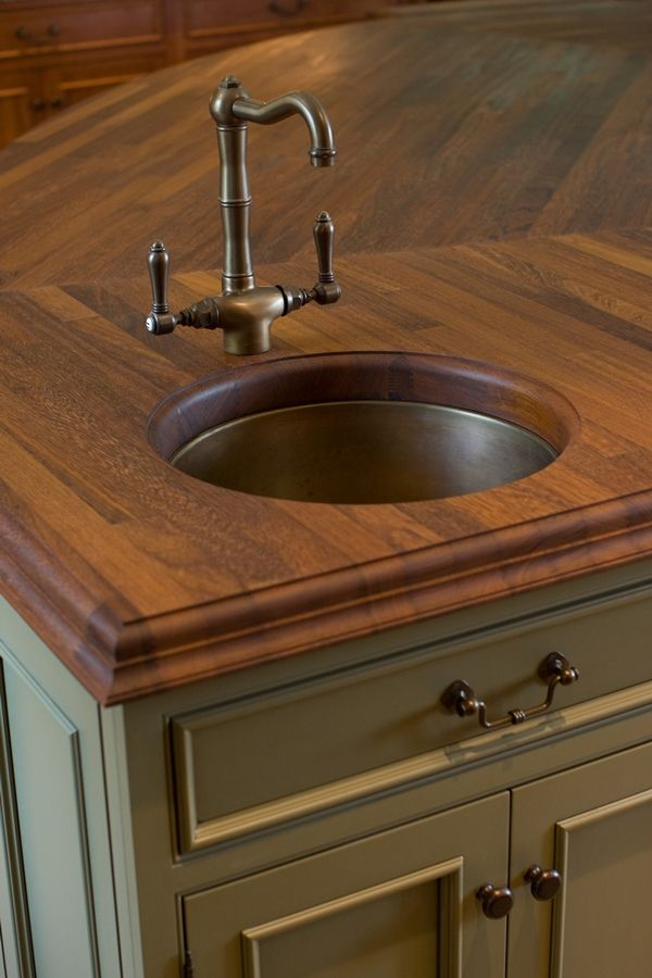 Kitchen island with a small bar sink  Kitchens