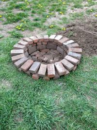 25+ Best Ideas about Brick Fire Pits on Pinterest | Fire ...