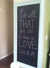 25+ best ideas about Framed Chalkboard Walls on Pinterest ...