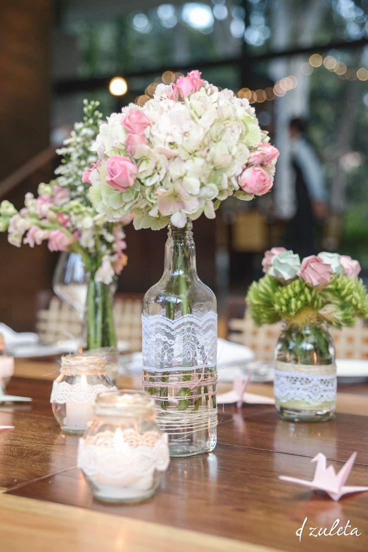 Centros de Mesa Bodas  Wedding Centerpieces DIY