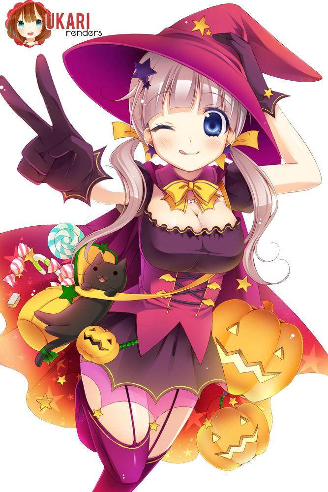 White Hair Anime Girl Hearts Wallpaper Halloween Anime Girl Kawaii Pesquisa Google Hallowen