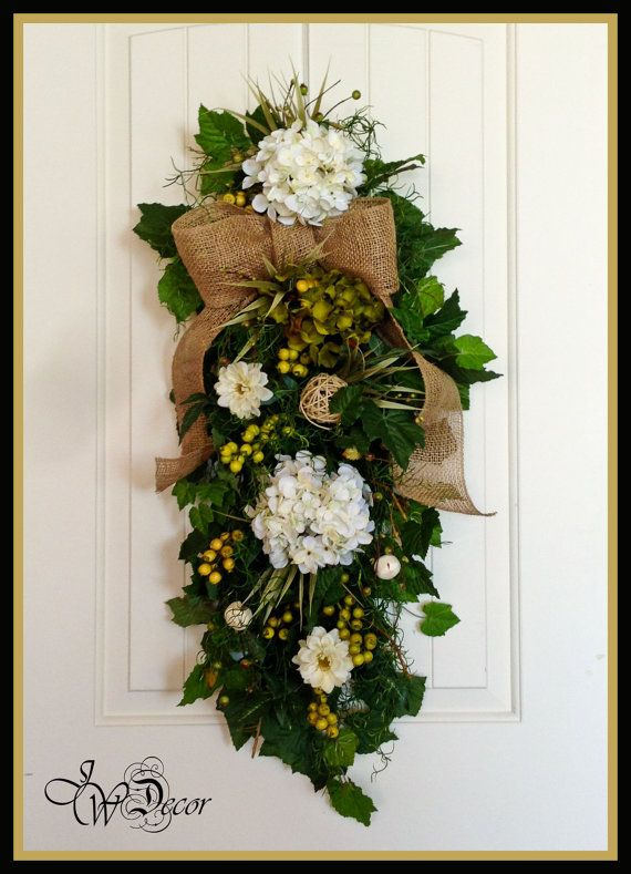 Summer Wreath Spring Wreaths Front Door Swag Hydrangea
