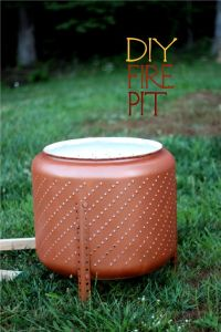 Build a portable fire pit from an old washing machine drum