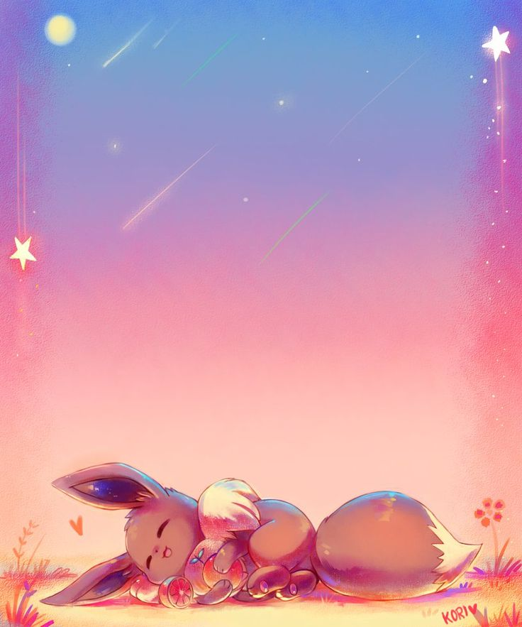 Cute Espeon Wallpaper Sleeping Under The Sunset By Kori7hatsumine Eevee