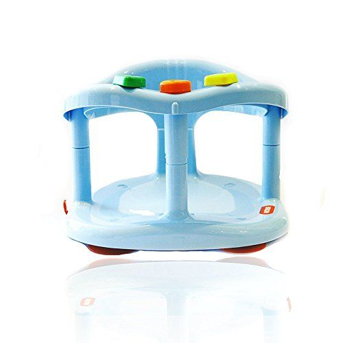 Safety 1st Bathtub Baby Bath Seat Swivel Blue Chair Ring W