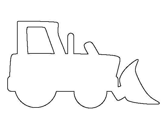 Bulldozer pattern. Use the printable outline for crafts