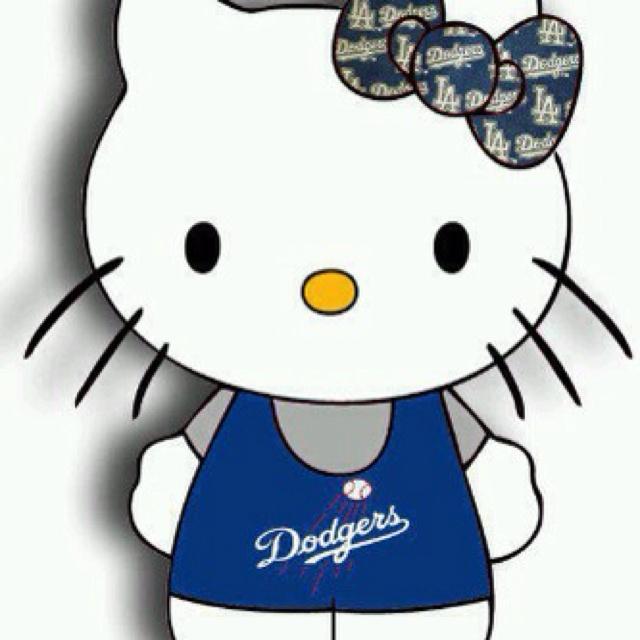 #hellokitty #dodgers #mlb Dodger Team Spirit Pinterest