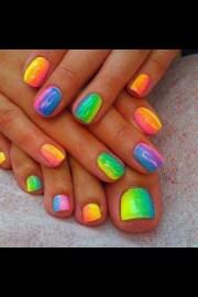 summer fluro ombre nails nail