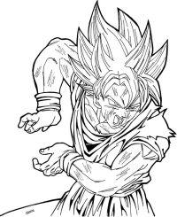 Dibujos Para Colorear Goku Super Saiyan 3 Super Saiyan