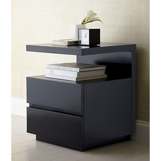 s explore black nightstand