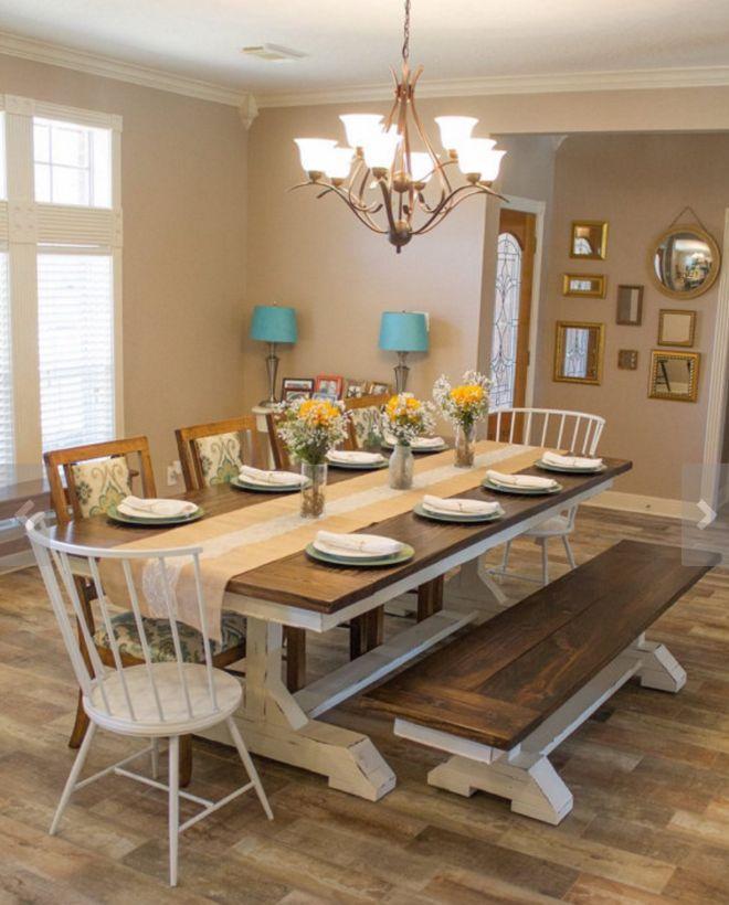 Best 25 Farmhouse dining room table ideas on Pinterest