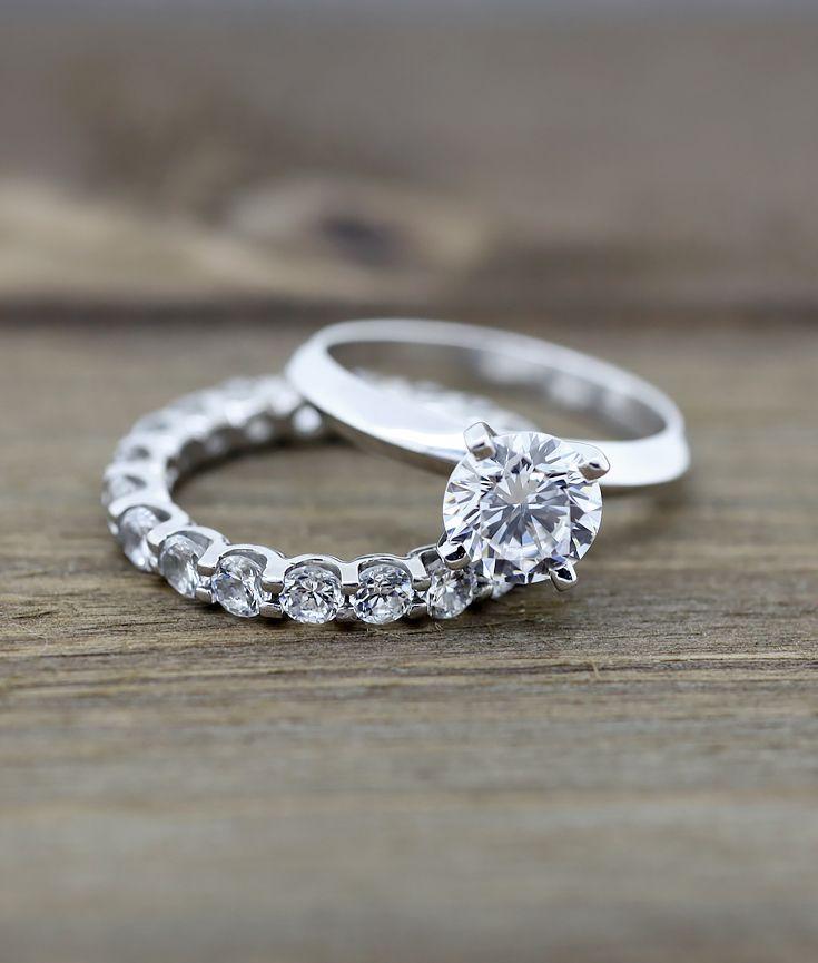 Tiffany Knife Edge Engagement Ring And Oasis Eternity Band