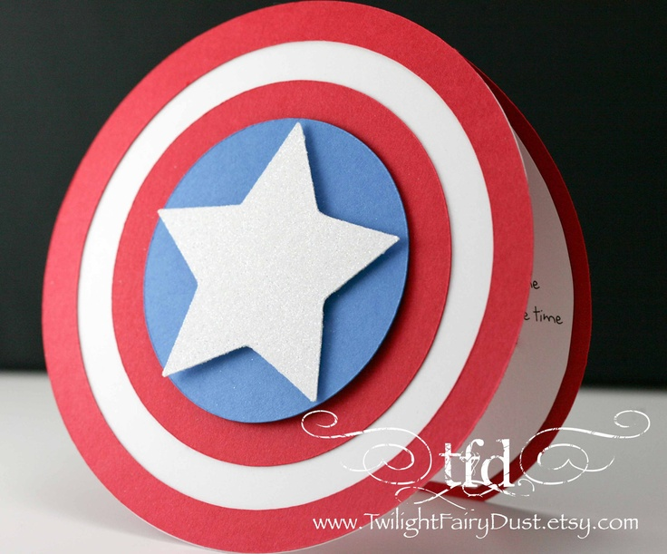 Captain America Invitations Or Perhaps Thank You Cards