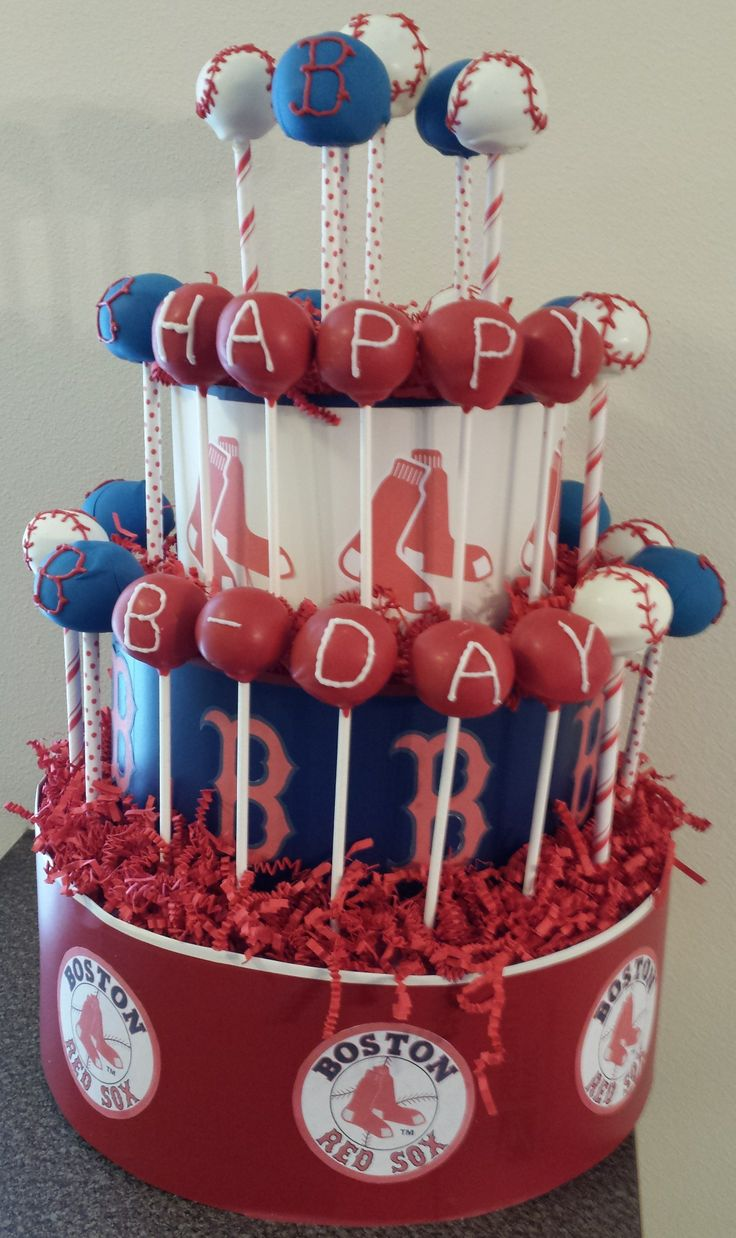 17 Best images about Boston Red Sox Cakes on Pinterest  Boston red Birthday cakes and Sox game