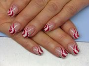 1000 ideas candy cane nails