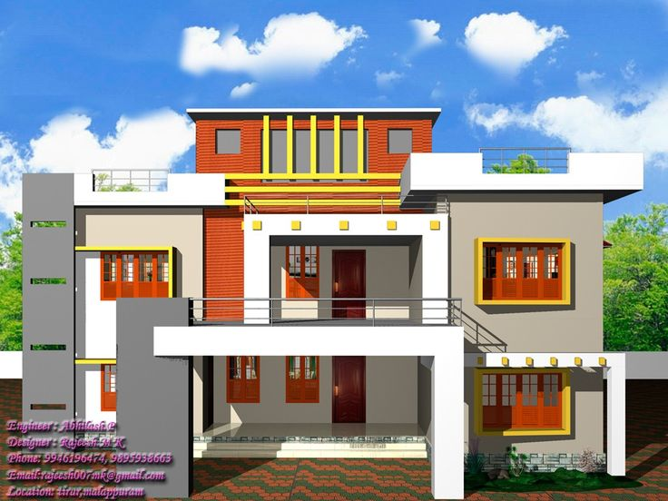 13 Awesome Simple Exterior House Designs In Kerala Image Ideas