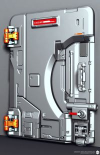 Polycount Forum sci-fi door by ae | Sci-Fi Stuff ...