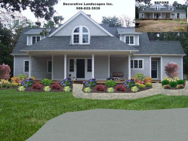 front yard residential landscape