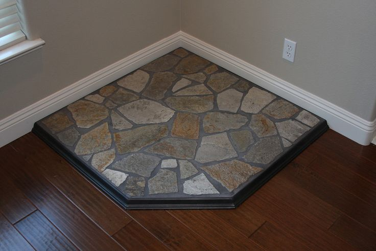 Rock Fireplace Mantel Corner Hearth Pad | Fireplace | Pinterest | Stove, Rocks