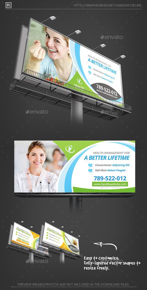 27 best images about Professional Corporate BillboardSignageRollup Banner Template on