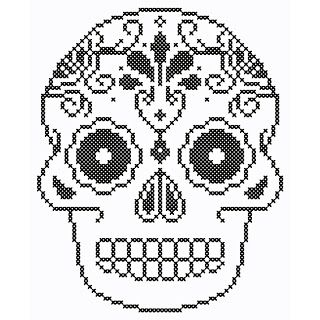 1000+ images about cross stitch skulls on Pinterest