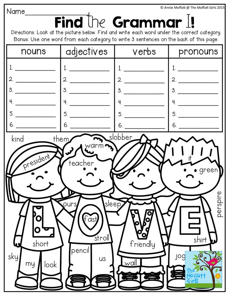 Find the hidden NOUNS, ADJECTIVES, VERBS and PRONOUNS