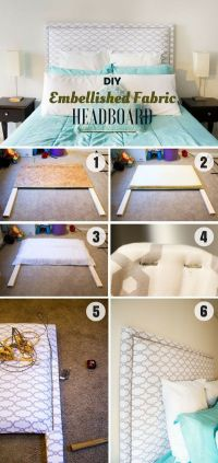 Best 25+ Diy fabric headboard ideas on Pinterest