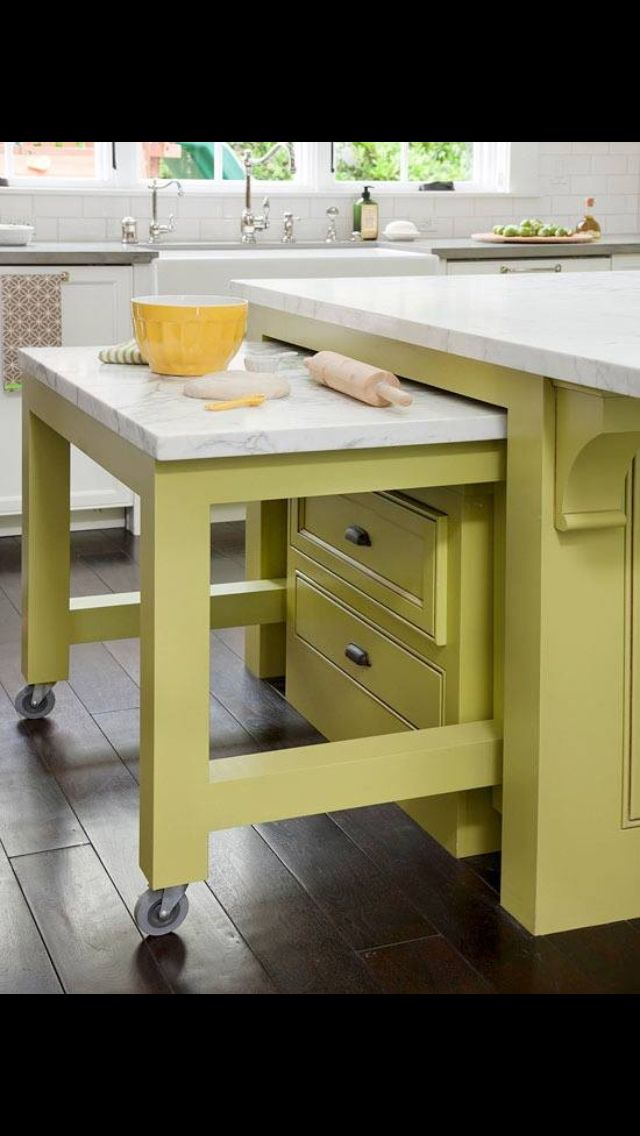 wheeled kitchen island corian sinks 64 best images about decor - hidden tables on pinterest ...