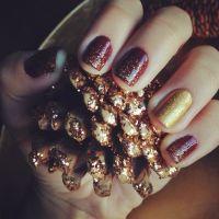 8 Elegant Thanksgiving Manicures | Nail art, Thanksgiving ...