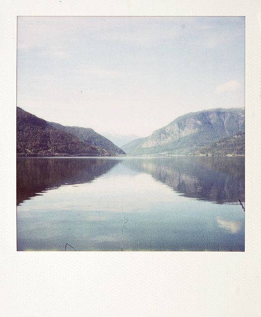 Polaroid Of The Sea And Mountains Photography Film